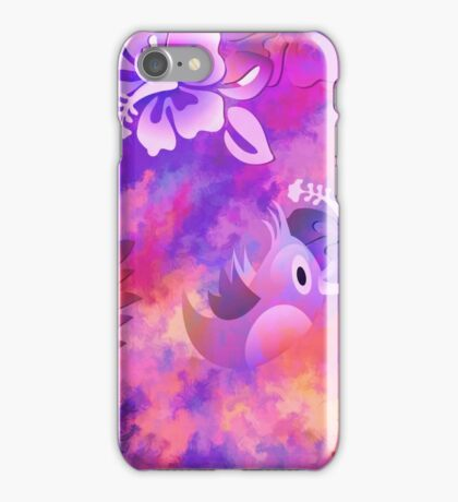 Abstract Flowers Bird iPhone Case/Skin