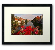 """""""Little Venice"""" - Bamberg Germany Framed Print"""