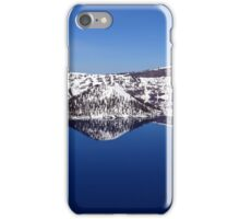 Crater Lake with Snow iPhone Case/Skin