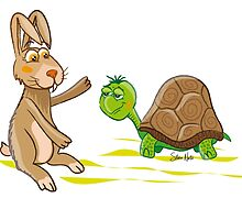 The Tortoise and the Hare Illustration by silvianeto