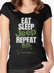 Eat sleep Jeep repeat Women's Fitted Scoop T-Shirt