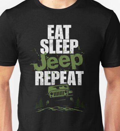 Eat sleep Jeep repeat Unisex T-Shirt