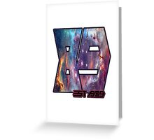 Number 89 Galaxy filler design Greeting Card