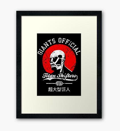 Giants Official Framed Print