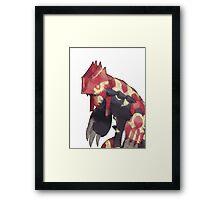 Primal Groudon Framed Print