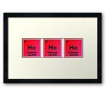 Ho Ho Ho Holmium - Christmas Chemistry Framed Print