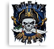 Cheat Death - Pirate Canvas Print
