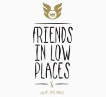 Low Intentions - Friends in Low Places - Black T-Shirt