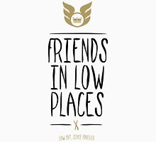 Low Intentions - Friends in Low Places - Black Unisex T-Shirt