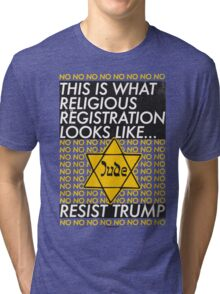 This Is What Religious Registration Looks Like Tri-blend T-Shirt