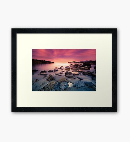 Stones in the sea. Framed Print