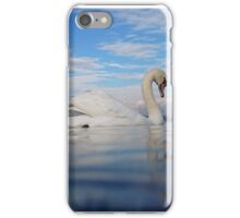 swan in lake geneva iPhone Case/Skin