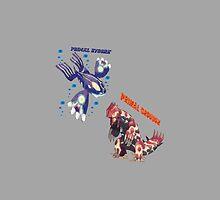 Primal Groudon & Primal Kyogre by PowerArtist