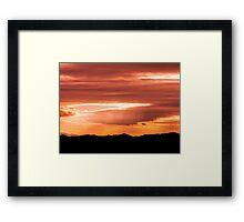Black in orange Framed Print