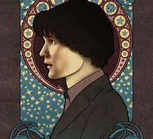 11th doctor art nouveau  by koroa