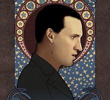 9th doctor art nouveau by koroa