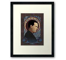 9th doctor art nouveau Framed Print