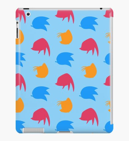Sonic, Knuckles and Tails (blue) iPad Case/Skin
