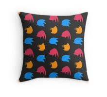 Sonic & Knuckles & Tails (black) Throw Pillow