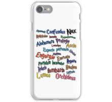 Magic spells iPhone Case/Skin