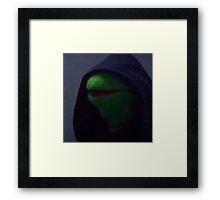 Hooded Kermit Framed Print