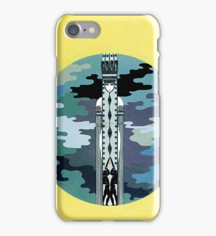 "Art Deco Design by Erte ""Indifference"" iPhone Case/Skin"