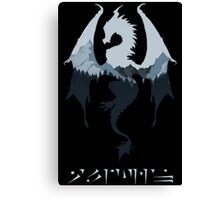 Dragon - Skyrim Canvas Print