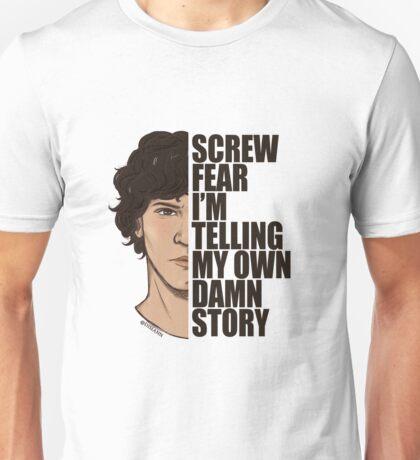 Bellamy Screw Fear w/ dark text by disiann Unisex T-Shirt