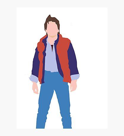 Minimalistic Marty McFly  Photographic Print