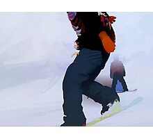 Snowboarder Moves Photographic Print