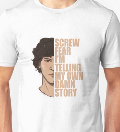 Bellamy Screw Fear w/ bright text by disiann  Unisex T-Shirt