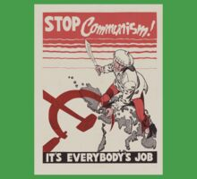 Vintage poster - Stop Communism One Piece - Short Sleeve
