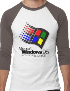 WINDOWS 95 (white/no clouds) Men's Baseball ¾ T-Shirt