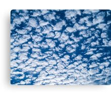 Little fluffy clouds Canvas Print