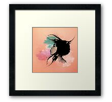 Psychedelic Blow Japanese Girl Framed Print