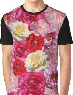 Vibrant Garden Roses Design Graphic T-Shirt