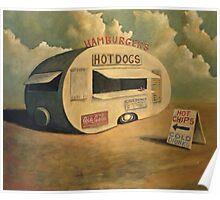 Abandoned Hotdog Van Poster