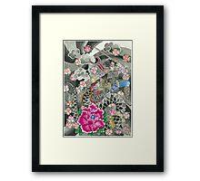 Samurai and Dragon Framed Print