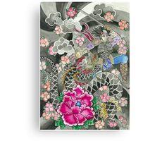 Samurai and Dragon Canvas Print