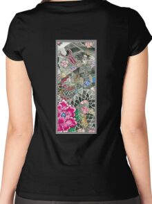 Samurai and Dragon Women's Fitted Scoop T-Shirt