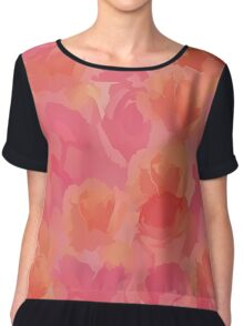 Soft Rose Bouquet Abstract Chiffon Top