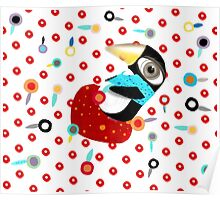 Bed of Roses Happy Penguin Poster