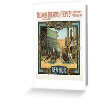 Vintage poster - Ben-Hur Greeting Card