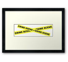 Crime Scene Tape Framed Print