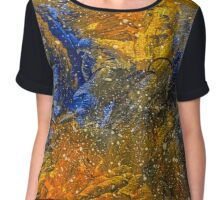 Stars Painting by Ottavio Fabbri Chiffon Top