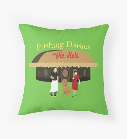 Pushing Daisies Minimalist Print Throw Pillow