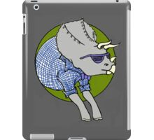 Hipstersaur - Tricerahops iPad Case/Skin