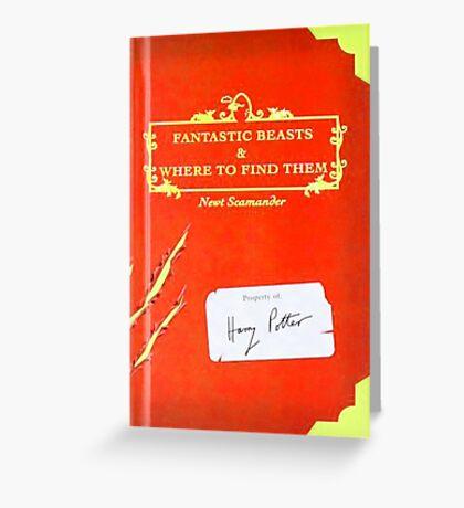 Fantastic Beast Book Cover  Greeting Card
