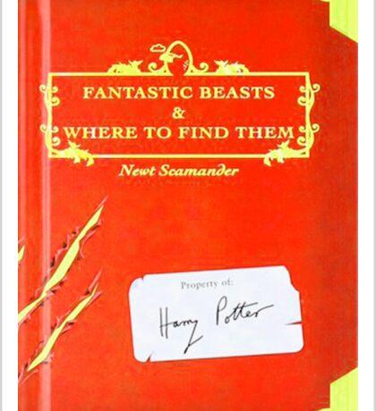 Fantastic Beast Book Cover  Sticker