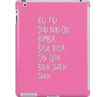 The names of the dwarves from The Hobbit iPad Case/Skin